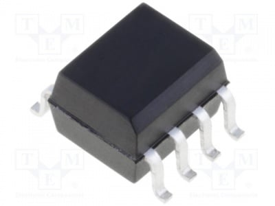 HCPL-063N-000E Оптрон; SMD; Канали:2; Изх: схема Дарлингтон; 5kV/?s; 3,75kV; SO8